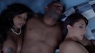 Ebony housewife and friend cum exchanging